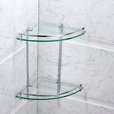 Badezimmer Regal Gute Qualität Moderne Edelstahl Glas 1 Stück - Hotelbad