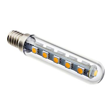 E14 Becuri LED Corn 16 led-uri SMD 5050 Decorativ Alb Cald 120lm 3000K AC 220-240V