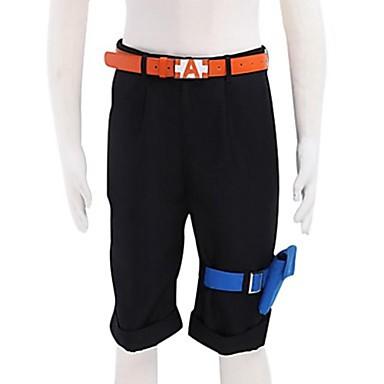 Вдохновлен One Piece Portgas D. Ace Аниме Косплэй костюмы Косплей вершины / дна Однотонный Пояс карман Шорты Назначение Муж.