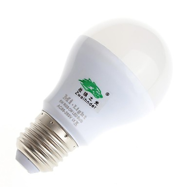 zweihnder E27 6W 470LM 2700-6500K 2.4ghz rf transmissie led lamp warm / wit licht met afstandsbediening (AC 85-265V)