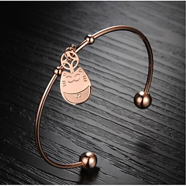 Dames Cuff armbanden Modieus Roestvast staal 18K goud Draak Sieraden Voor Dagelijks
