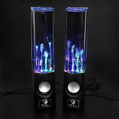 USD $ 34,95 - USB Hi-Fi-Stereo-Lautsprecher mit LED Licht für PC/Laptop/MP3/Handy (Schwarz)