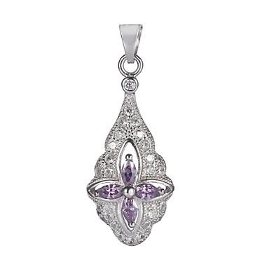 Ожерелья с подвесками Кулоны Стерлинговое серебро Циркон Ожерелья с подвесками Кулоны , Для вечеринок Повседневные