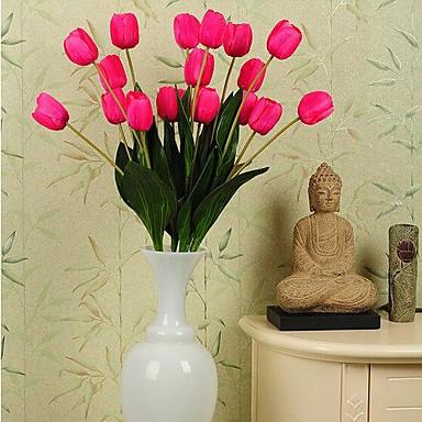 Kunstbloemen 1 Eenvoudige Stijl Tulpen Bloemen voor op tafel / Niet Inbegrepen