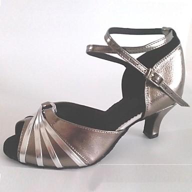 Pentru femei Pantofi Dans Latin Piele Sandale Toc Personalizat Personalizabili Pantofi de dans Gri