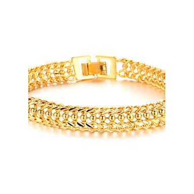 Pánské Pozlacené 18K zlato Náramky s přívěšky - Náramky Pro Vánoční dárky Svatební Párty