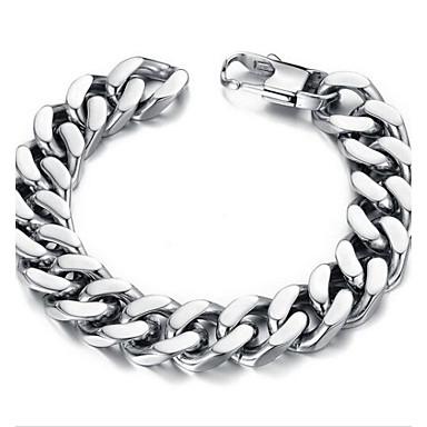 Herrn Edelstahl Anderen Ketten- & Glieder-Armbänder - Einzigartiges Design Modisch Simple Style Silber Armbänder Für Weihnachts Geschenke