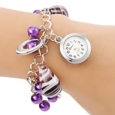 Pentru femei Ceas Brățară Ceas La Modă Quartz Aliaj Bandă Perlă Violet
