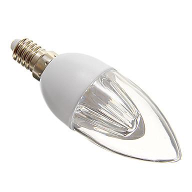 E14 LED лампы в форме свечи 10 светодиоды SMD 3528 Холодный белый 140-160lm 5000-6500K AC 220-240V