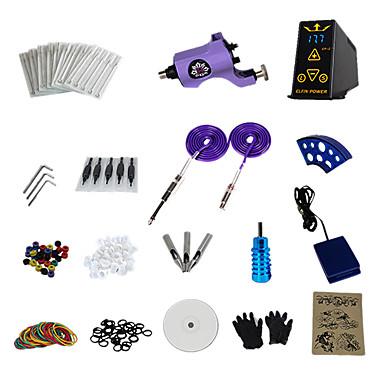 1 Gun Complete No Ink Tattoo Kit with Purple Boss RCA Motor Machine