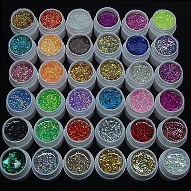 hesapli Tırnak ve Ojeler-36pcs glitter uv renk jel hızlı kuruyan temizleyici cila