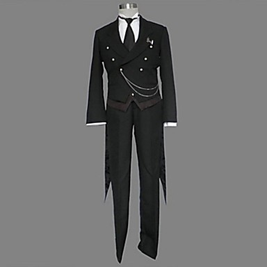 Inspired by Cosplay Cosplay Anime Cosplay Costumes Cosplay Suits Patchwork Long Sleeves Vest Pants Tuxedo Tie For Male Female