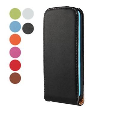 solid de culoare deschide și în jos din piele PU caz corporal complet pentru iPhone 5c (culori asortate)