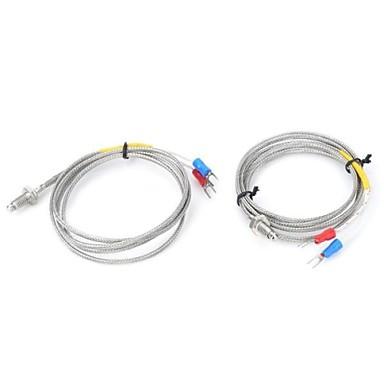 m6 Schrauben kleinen Thermoelement Temperaturmesser Sensor 2 Stück 1m