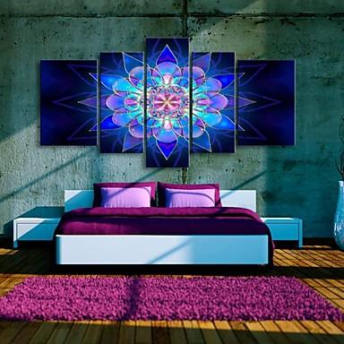 Вытянутая холсте красивый цветок мечта декоративная живопись набор 5