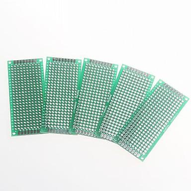 față-verso 2.54mm pas PCB 3 x 7cm protoboard - verde (5pcs)