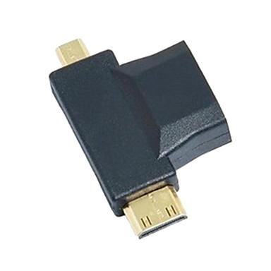 3-in-1  HDMI to Micro HDMI Mini HDMI Adapter Converter