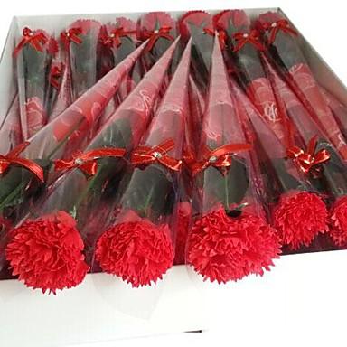 1 stuks vakantie geschenken anjers vorm zeep bloemen (willekeurige kleur)