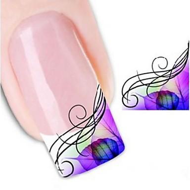 1 Pcs Adesivi 3d Unghie Adesivo Per Trasferimento D'acqua Manicure Manicure Pedicure Astratto - Punk - Di Tendenza Quotidiano - Adesivi Per Unghie 3d #01967724 Colore Veloce