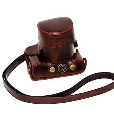 dengpin® lederen beschermhoes camera case tas hoes met schouderband voor canon eos m eos m2