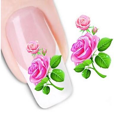 1 Pcs Adesivi 3d Unghie Adesivo Per Trasferimento D'acqua Manicure Manicure Pedicure Fiore - Matrimonio - Di Tendenza Quotidiano - Adesivi Per Unghie 3d #01967716
