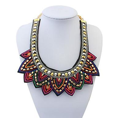 Damen Glasperlen Statement Ketten - Erklärung, Personalisiert, Europäisch Rot, Grün Modische Halsketten Schmuck Für