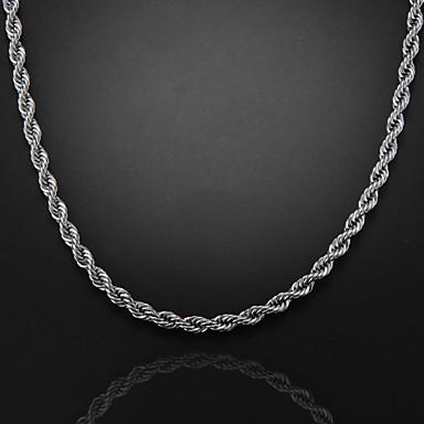 versilbert Ketten  -  Silber Modische Halsketten Für Party Alltag Normal