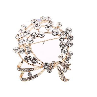 Broschen - Stilvoll Brosche Silber Für Alltagskleidung