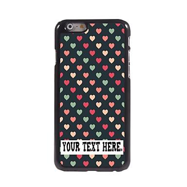 gepersonaliseerd geval mooi hartontwerp metalen behuizing voor de iPhone 6 (4.7