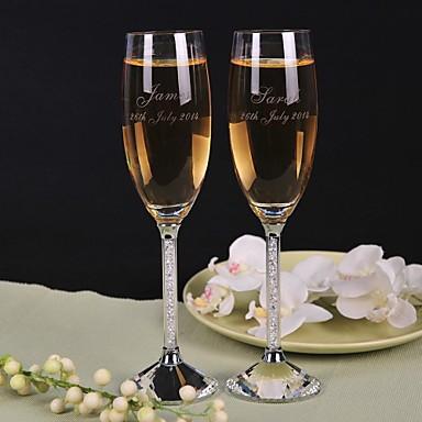 abordables Flûtes à Champagne-Cristal Flûtes grillage Boîte à cadeau Thème classique Toutes les Saisons