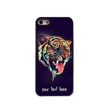 șef caz personalizate de tigru caz metalice de proiectare pentru iPhone 5 / 5s