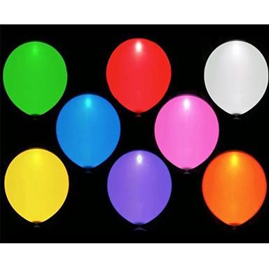 voordelige Ballonnen-10st leidde balloms (willekeurige kleur)