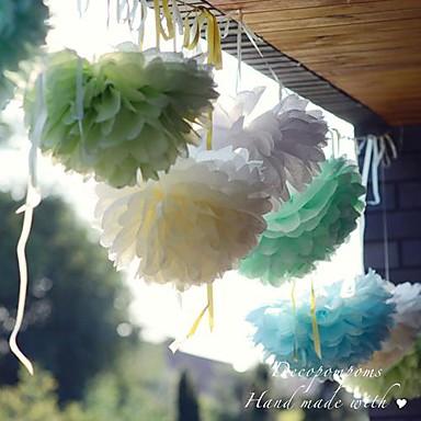 10 дюймовые бумаги цветок Декорации для вечеринок - набор из 4 (больше цветов)
