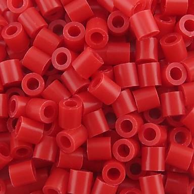 ca. 500 stuks / zak 5mm rode zekering kralen hama kralen diy puzzel eva materiaal safty voor kinderen ambachtelijke