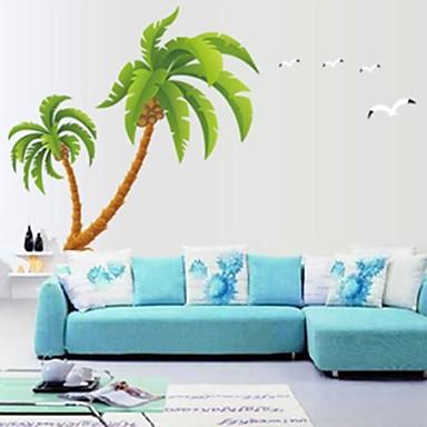 doudouwo® muurstickers muur stickers, botanische prachtige kokospalmen pvc muurstickers