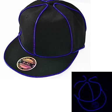lumina pălăria neagră cu albastru sârmă el a condus strălucire baterie 1aaa snapback