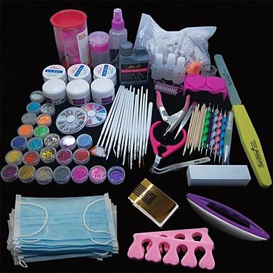 voordelige Nagelgereedschap & Apparatuur-167pcs pro nail art acryl poeder uv gel tip borstel clipper tool set