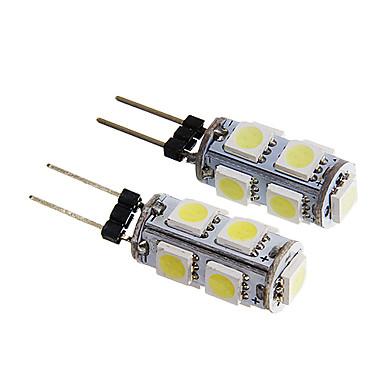 2pcs G4 Car Light Bulbs 1.5 W SMD 5050 140-170 lm 9 LED Interior Lights For universal