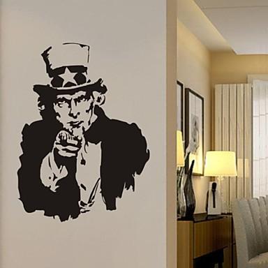 настенные наклейки наклейки для стен, я хочу U Дядя Сэм ПВХ стены стикеры