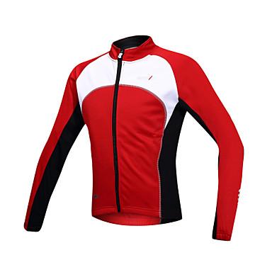 SANTIC Bărbați Jachetă Cycling Bicicletă Jachetă / Jerseu / Topuri Keep Warm, Rezistent la Vânt, Căptușeală Din Lână Peteci Spandex,