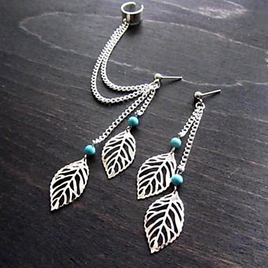 Oorbel Bladvorm Oorknopjes / Clip oorbellen Sieraden Causaal Zilver