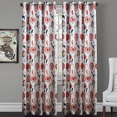 Twee panelen Window Behandeling Designer Slaapkamer Polyester Materiaal Curtains Drapes Huisdecoratie For Venster