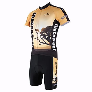 ILPALADINO Bărbați Manșon scurt Jerseu Cycling cu Pantaloni Scurți Animal Bicicletă Set de Îmbrăcăminte, Uscare rapidă, Rezistent la