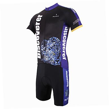 ILPALADINO Herrn Kurzarm Fahrradtriktot mit Fahrradhosen Tier Fahhrad Shorts/Laufshorts Trikot/Radtrikot Kleidungs-Sets, Rasche