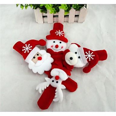Julegaver Juleleker Slaparmbånd Leketøy Snømann Nuttet julenissen tekstil 1pcs Deler