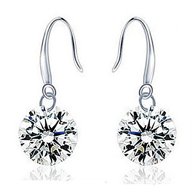 Damen Tropfen-Ohrringe Modeschmuck Sterling Silber Zirkon Kubikzirkonia Schmuck Für