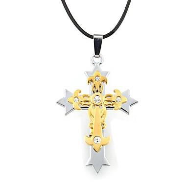 Kreuz Leder Anhängerketten  -  Gold Modische Halsketten Für Alltag Normal