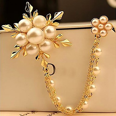 moda perla de ninsoare brosa nunta partid stil elegant feminin