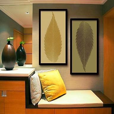 Bloemenmotief/Botanisch / Fantasie Ingelijst canvas / Ingelijste set Wall Art,PVC Zwart Zonder passepartout met Frame Wall Art