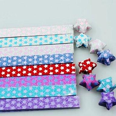 18 stuks knipperen lichtgevende lucky star origami materialen (willekeurige kleur)